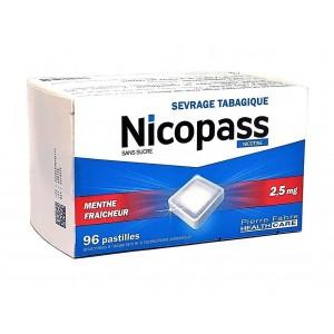 Nicopass 2,5mg Menthe...
